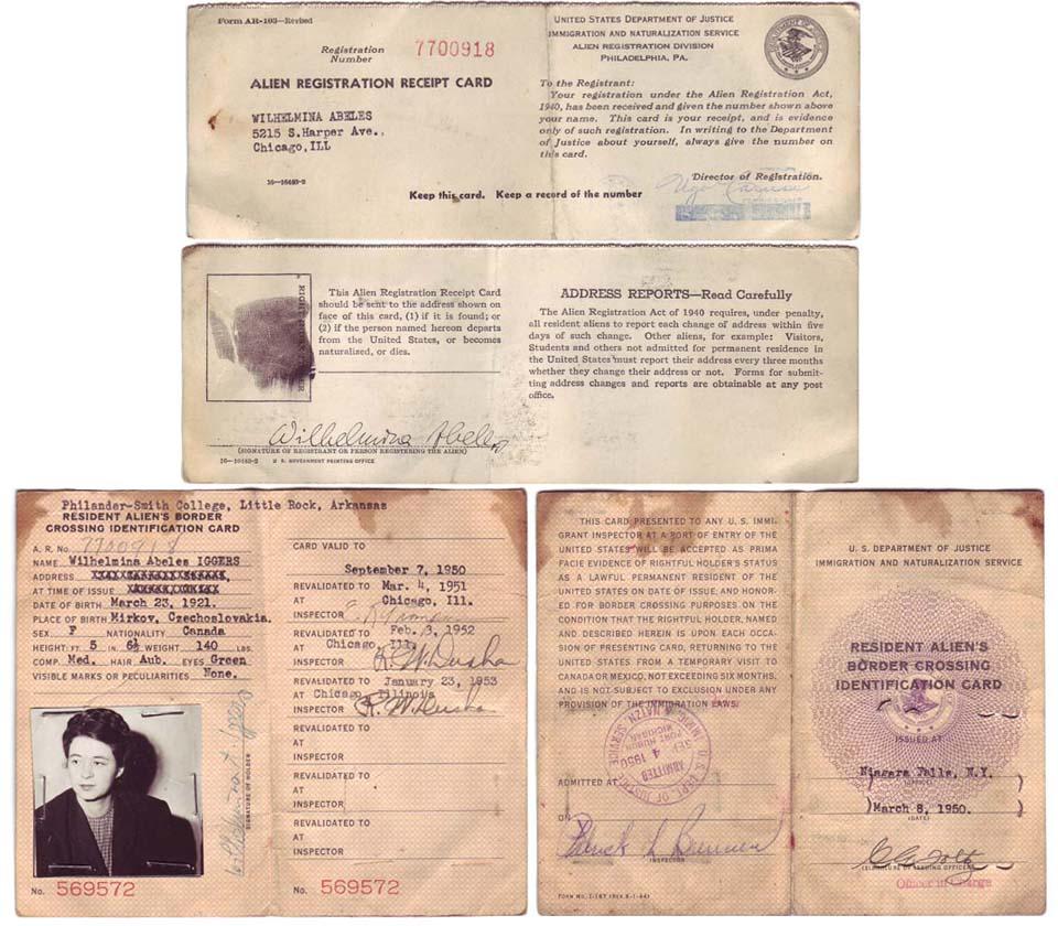 us resident alien's border crossing identification card